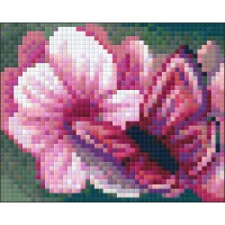 Set PixelHobby Fluture pe Floare
