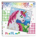Joc educativ, Pixel Gift XL - Unicorn, 12x12 cm, 5+ani